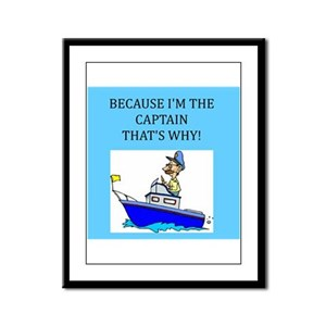 boating gifts t-shirts Framed Panel Print